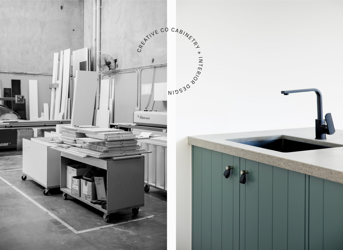 Laundry cabinetry by Creative Co